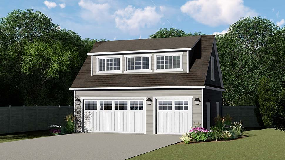 3 Car Garage Plan 50793 Elevation