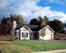 One-Story, Traditional House Plan 51020 with 3 Beds, 2 Baths, 2 Car Garage Elevation