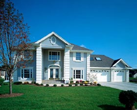 Colonial House Plan 51023 with 3 Beds, 3 Baths, 3 Car Garage Elevation