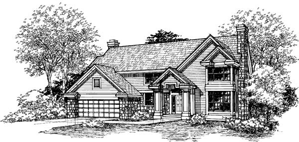 Country House Plan 51113 Elevation