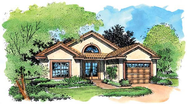 Elevation of Southwest   House Plan 51151