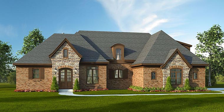 European Tudor House Plan 51416 Elevation