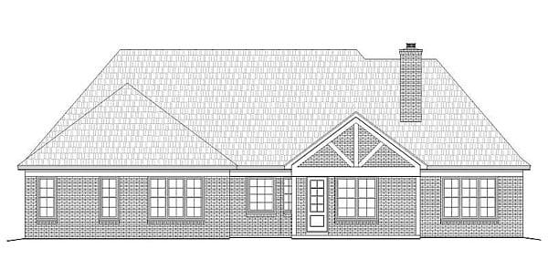 European Tudor House Plan 51416 Rear Elevation