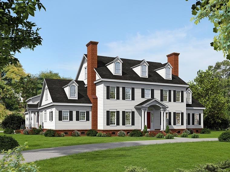 Southern Style House Plan Number 51418 with 6 Bed, 6 Bath, 3 Car Garage