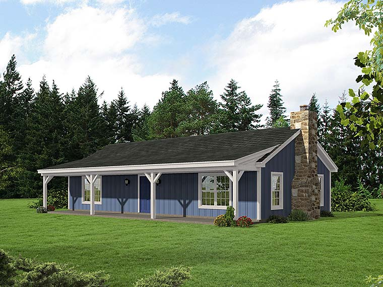 Cabin Ranch House Plan 51429 Elevation
