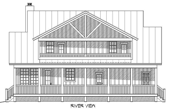 Country House Plan 51438 Rear Elevation