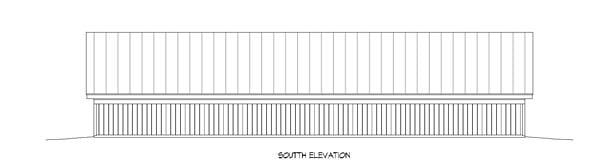 Garage Plan 51442 Rear Elevation