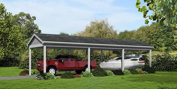 1 Car Garage Plan 51448 Elevation