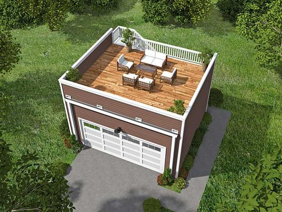 Contemporary 2 Car Garage Apartment Plan 51450 Elevation