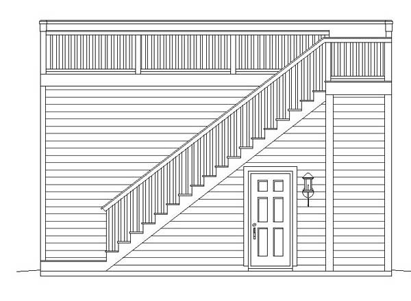 Contemporary Garage Plan 51450 Rear Elevation