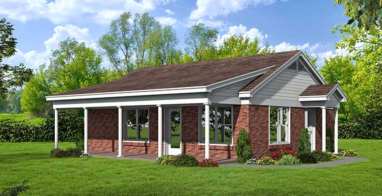 Ranch House Plan 51452 Elevation