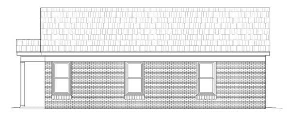 Ranch House Plan 51452 Rear Elevation