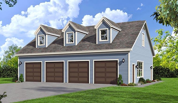 Garage Plan 51454 Elevation