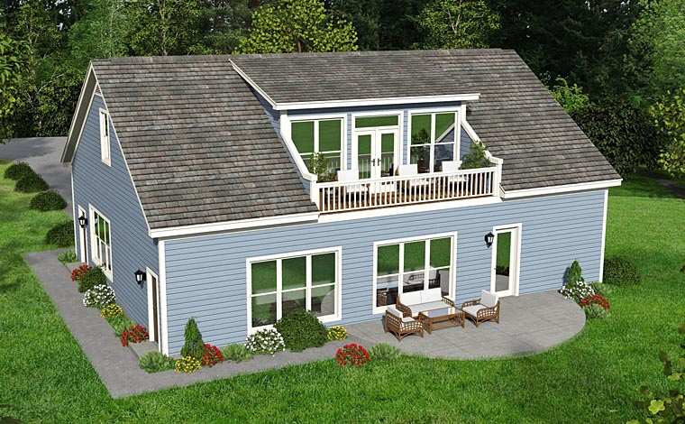Garage Plan 51454 Rear Elevation