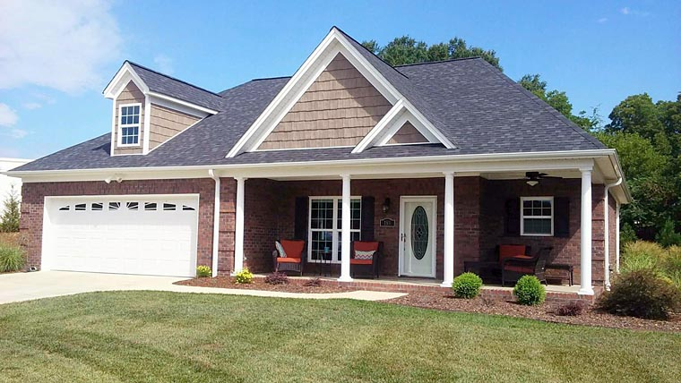 Ranch, Traditional House Plan 51455 with 2 Beds, 2 Baths, 2 Car Garage Elevation