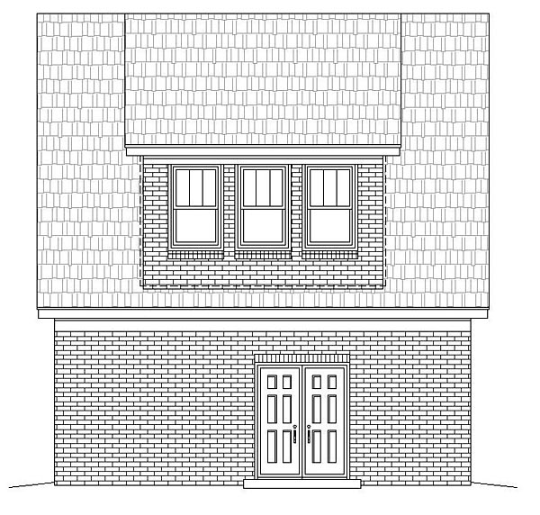 Garage Plan 51466 Rear Elevation
