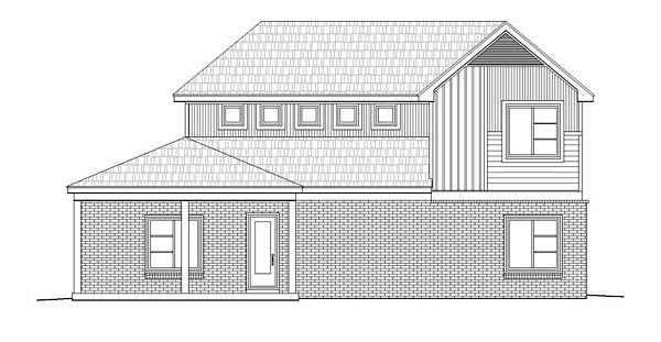 Contemporary Craftsman House Plan 51475 Rear Elevation