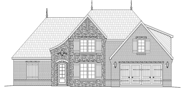 French Country Traditional Tudor House Plan 51478