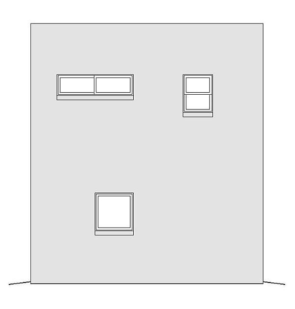 Modern Rear Elevation of Plan 51488