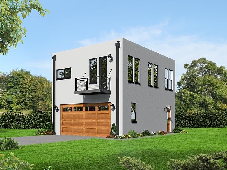 Modern Garage Plan 51489 Elevation