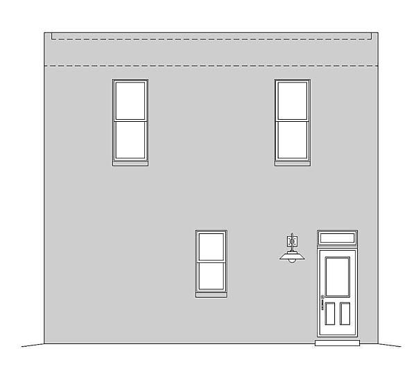Modern Garage Plan 51489 Rear Elevation