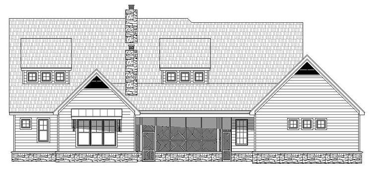 Traditional House Plan 51492 Rear Elevation