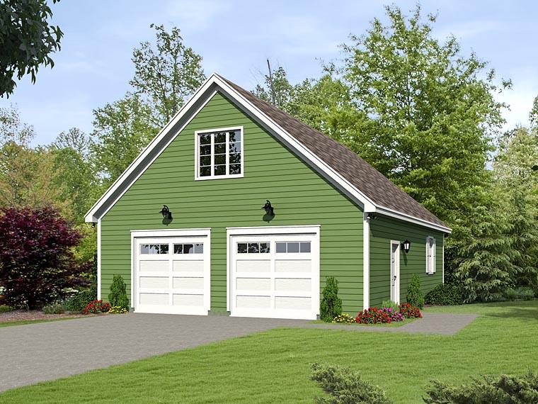 Traditional Garage Plan 51495 Elevation
