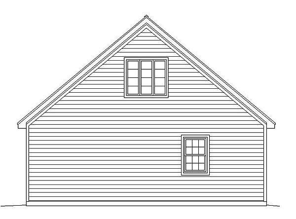 Traditional Garage Plan 51495 Rear Elevation