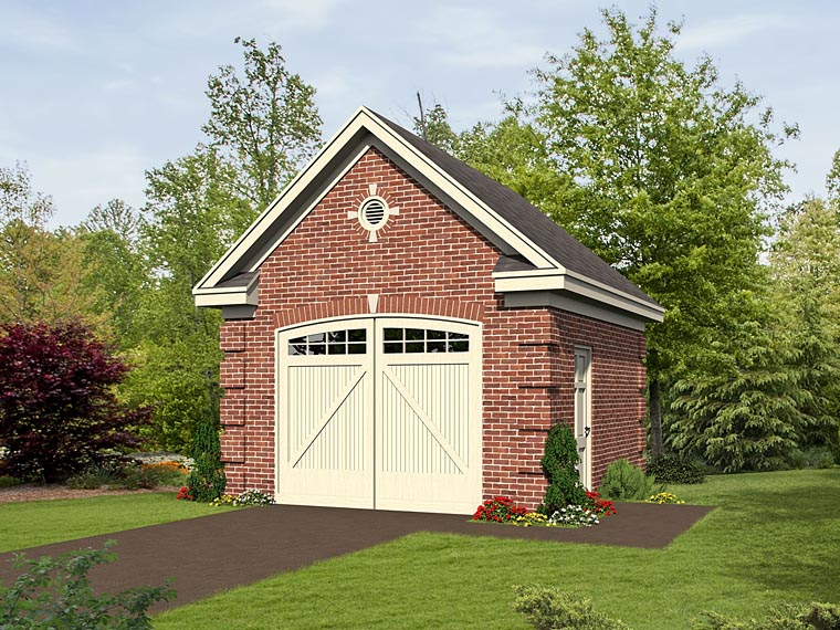 1 Car Garage Plan 51500 Elevation