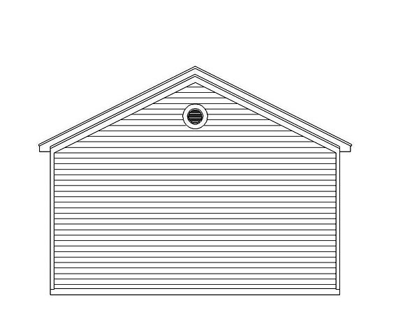Traditional Garage Plan 51504 Rear Elevation