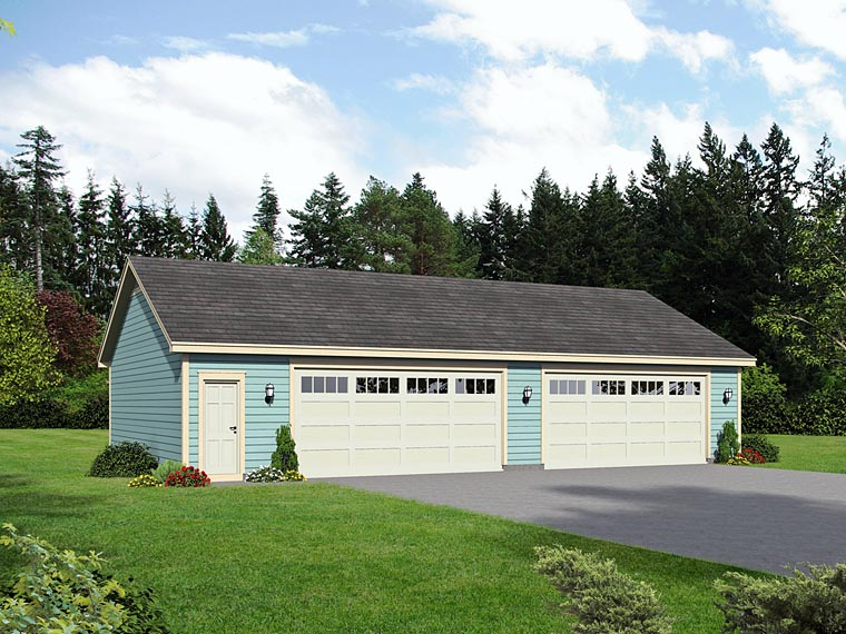 Traditional Garage Plan 51509 Elevation