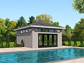 Poolhouse Plan 51517