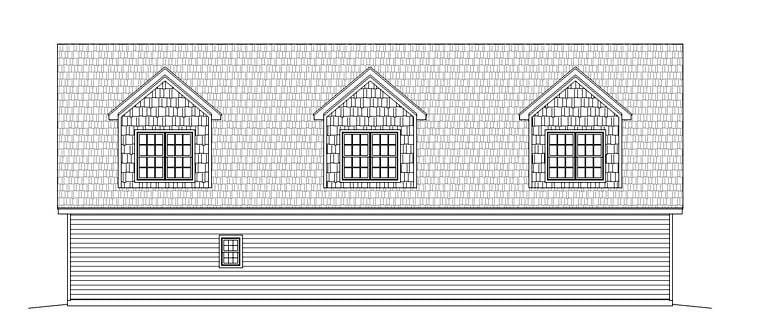 Garage Plan 51518 Rear Elevation