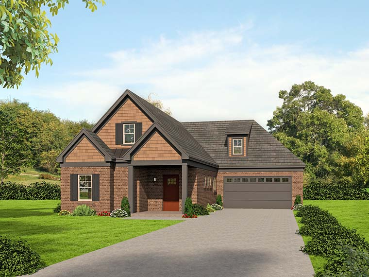 Cottage Southern Traditional House Plan 51520 Elevation