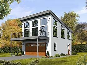 Garage-Living Plan 51521