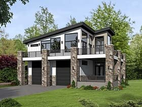Garage-Living Plan 51522