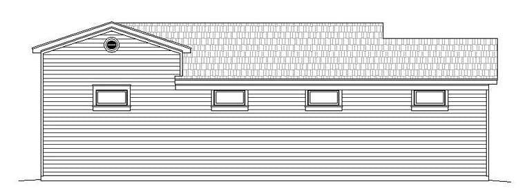 Traditional 4 Car Garage Plan 51526, RV Storage Rear Elevation