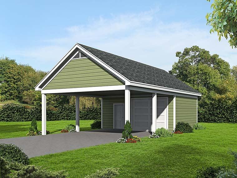 Garage Plan 51536 Elevation
