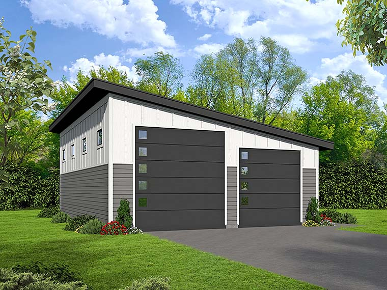 Modern Garage Plan 51539 Elevation