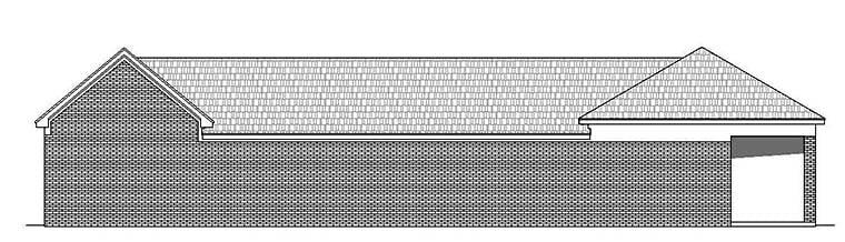 6 Car Garage Plan 51541, RV Storage Rear Elevation