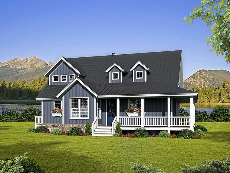 Cabin Country Southern Traditional House Plan 51542 Elevation