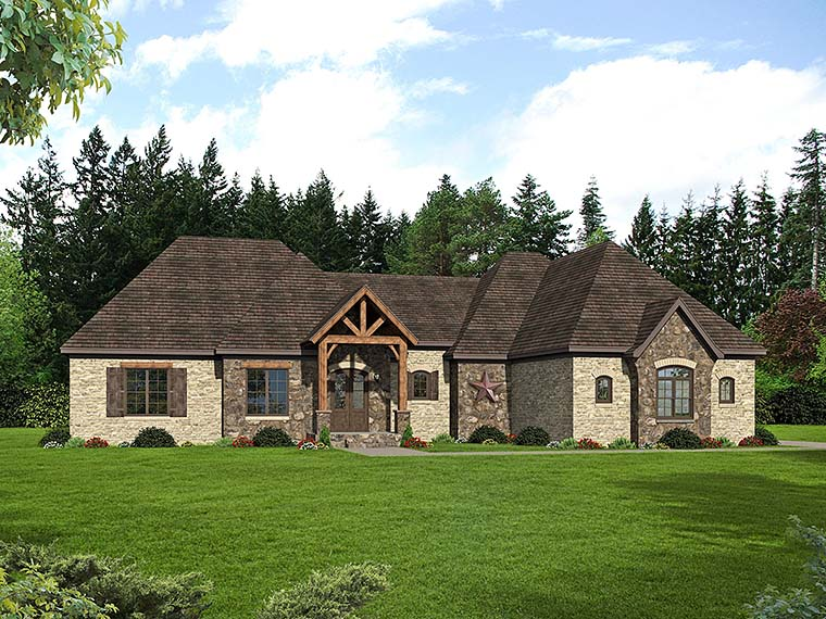Country French Country Southern House Plan 51543 Elevation