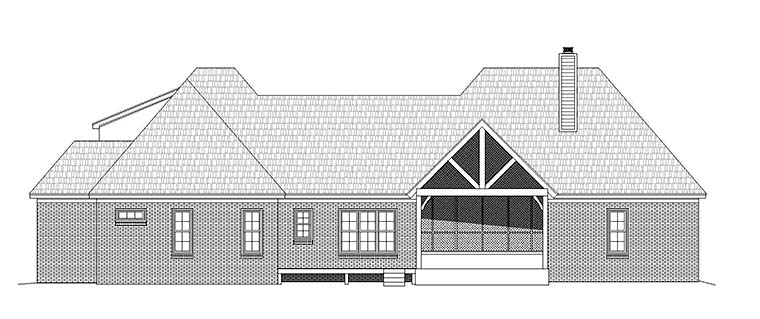 Country French Country Southern House Plan 51543 Rear Elevation
