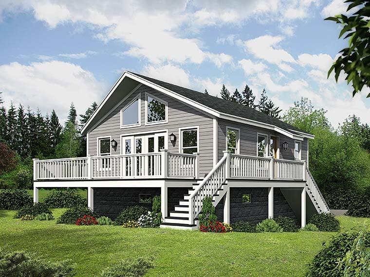 House Plan 51545 Rear Elevation