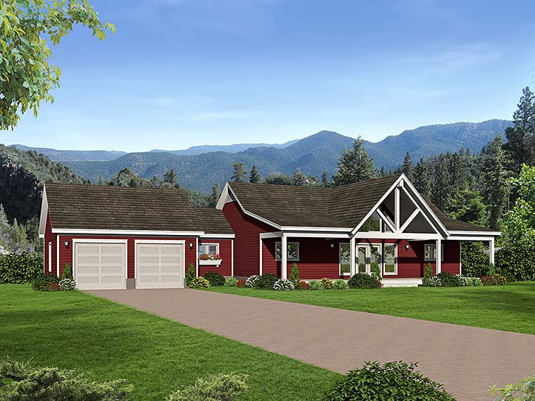 Country Southern Traditional House Plan 51551 Elevation