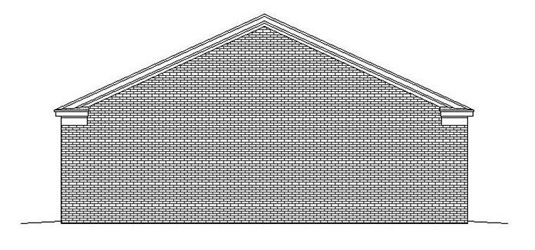 Garage Plan 51565 Rear Elevation