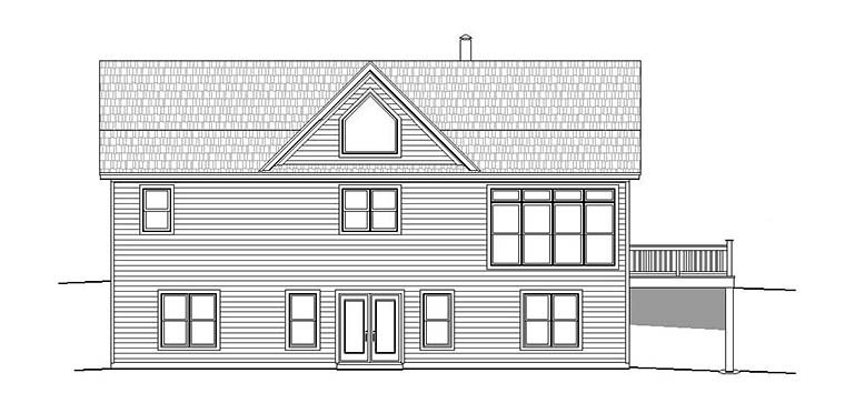 Contemporary Country Southern Traditional House Plan 51567 Rear Elevation