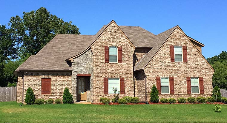 European, French Country House Plan 51586 with 4 Beds, 4 Baths, 2 Car Garage Elevation