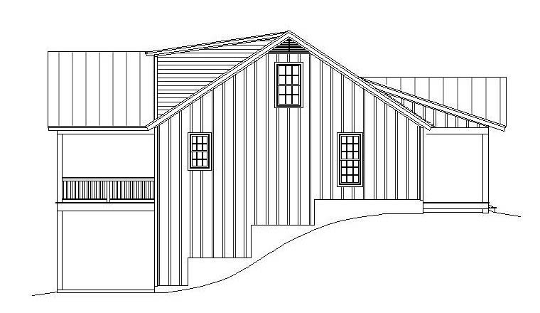 Ranch, Southern House Plan 51600 with 2 Beds, 2 Baths, 2 Car Garage Picture 2