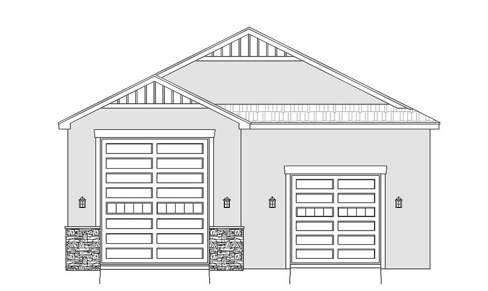Traditional 3 Car Garage Plan 51626, RV Storage Picture 3